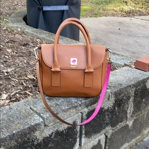 Kate Spade Tan and Pink Bag
